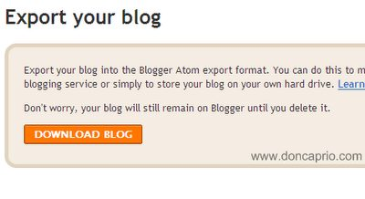 Import An Old Blog To A New One (For Blogspot)