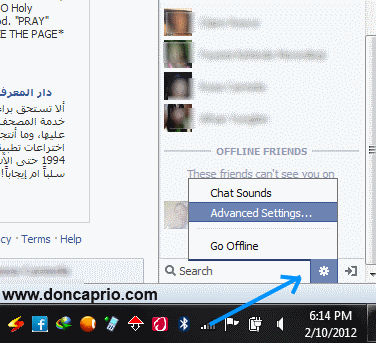 hide from certain friends on facebook chat