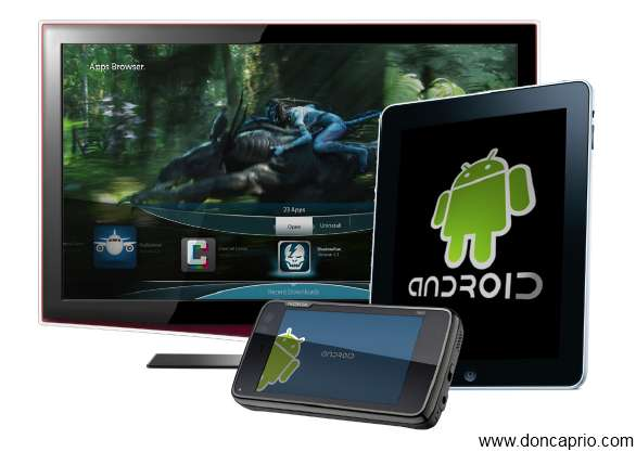 Myriad Alien Dalvik allows you to run android applications on iPad, iPhone, Meego and other non android devices