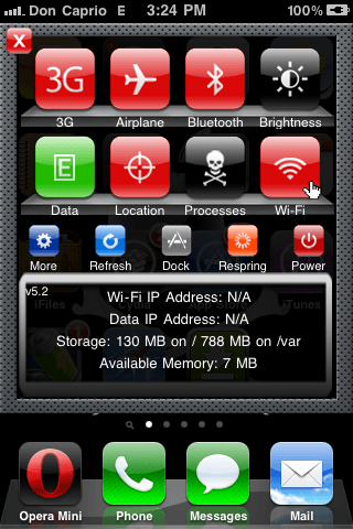 cydia tweak - SBSETTINGS