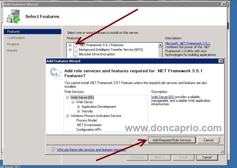 how to install .net framework on Windows server 2008