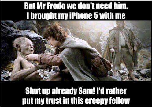 iPhone 5 lord of the ring Meme