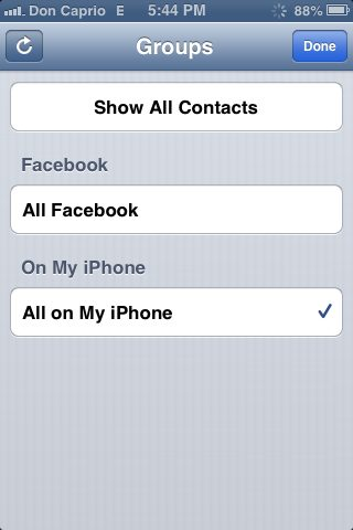 remove facebook contacts from whatsapp