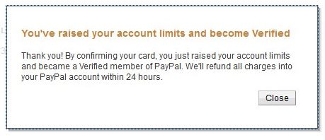 verify a paypal acccount in unsupported countries