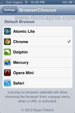 default browser iOS