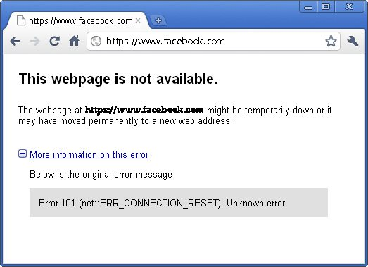 Web page not available 1