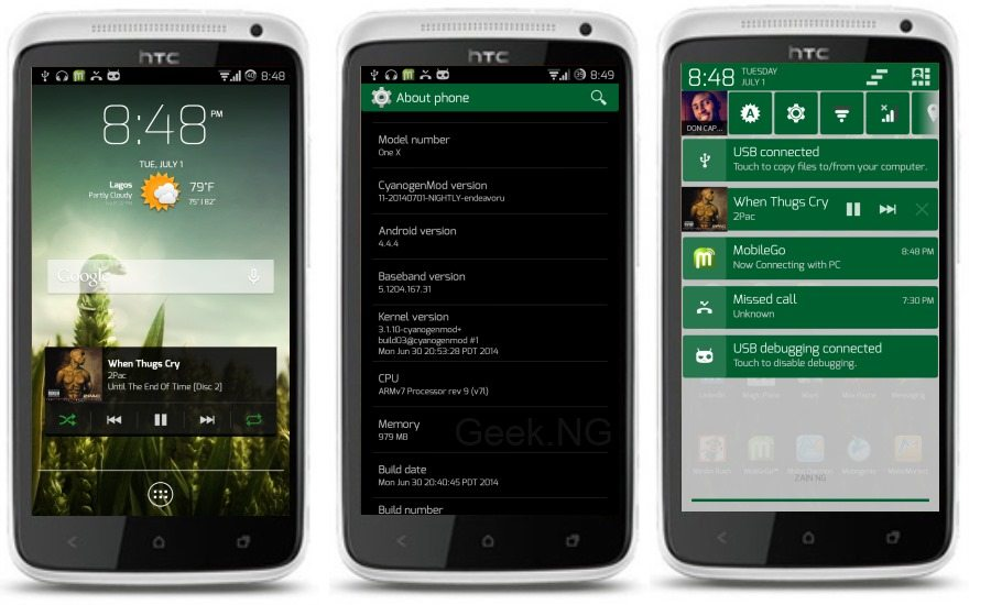 htc one x android 4.4 kitkat