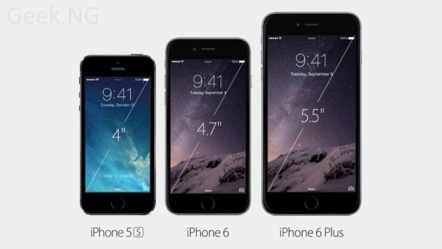 iphone 6 and iphone 6 plus sizes compared with iPhone 5