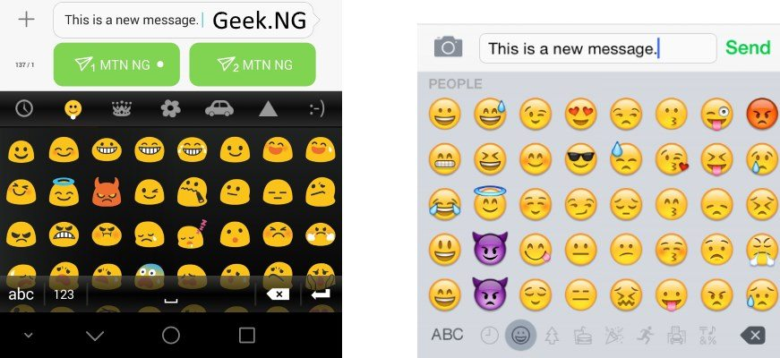 android emoji and iOS emoji