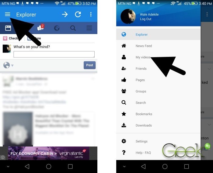 download facebook videos with 3rd party app