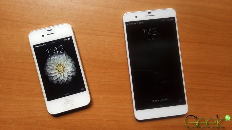 iphone 4s and huawei honor 6 plus