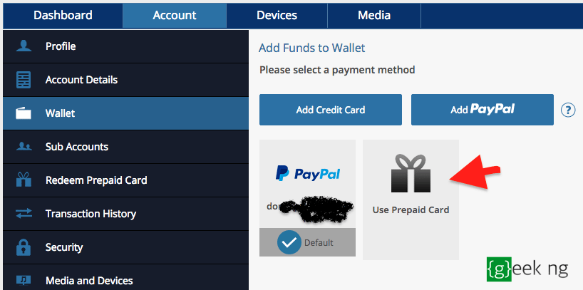 add fund to psn wallet
