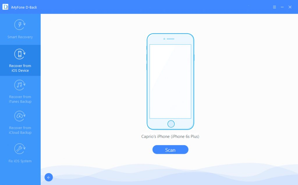 imyfone d-back ios data recovery