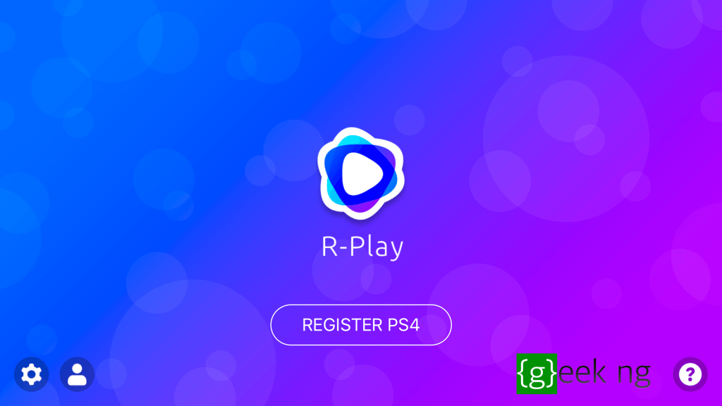 register ps4 with r-play