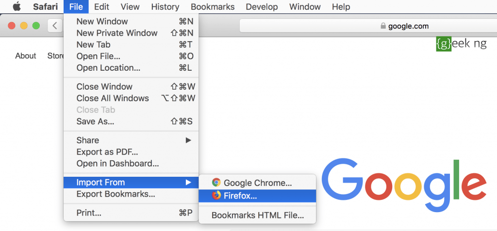 import passwords to safari from chrome