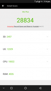 Vkworld Mix Plus AnTuTu Benchmark score