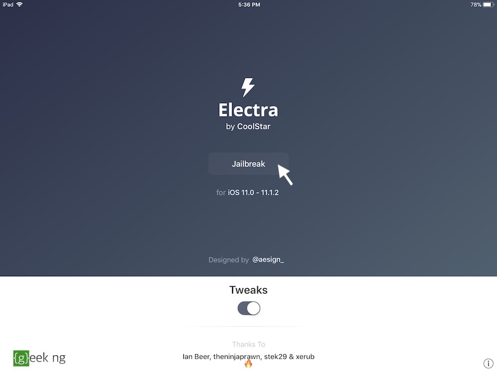 jailbreak with electra without pc
