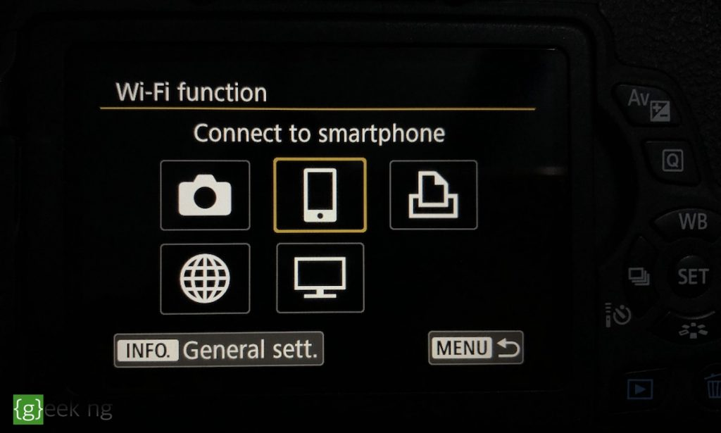 connect to smartphone canon 750D