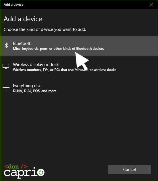 windows 10 bluetooth settings