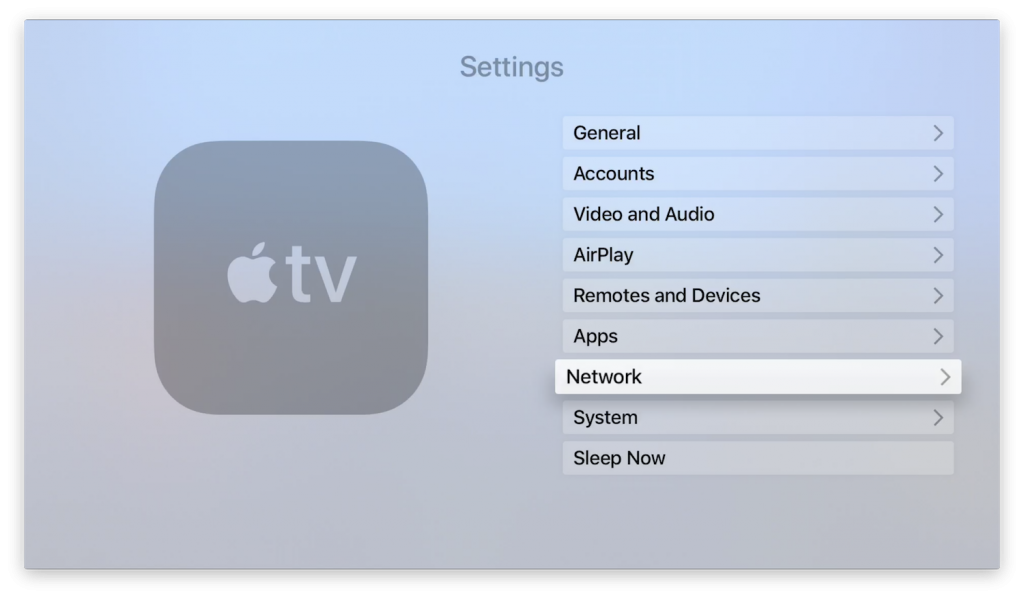 apple tv 4k settings
