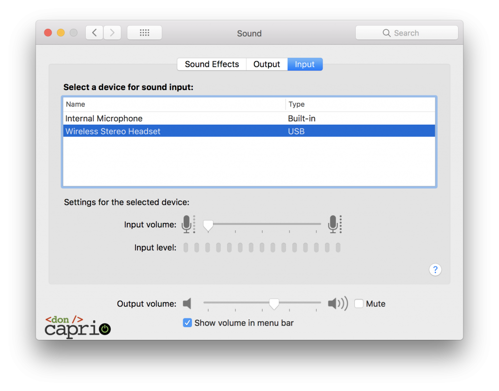 macbook pro audio settings
