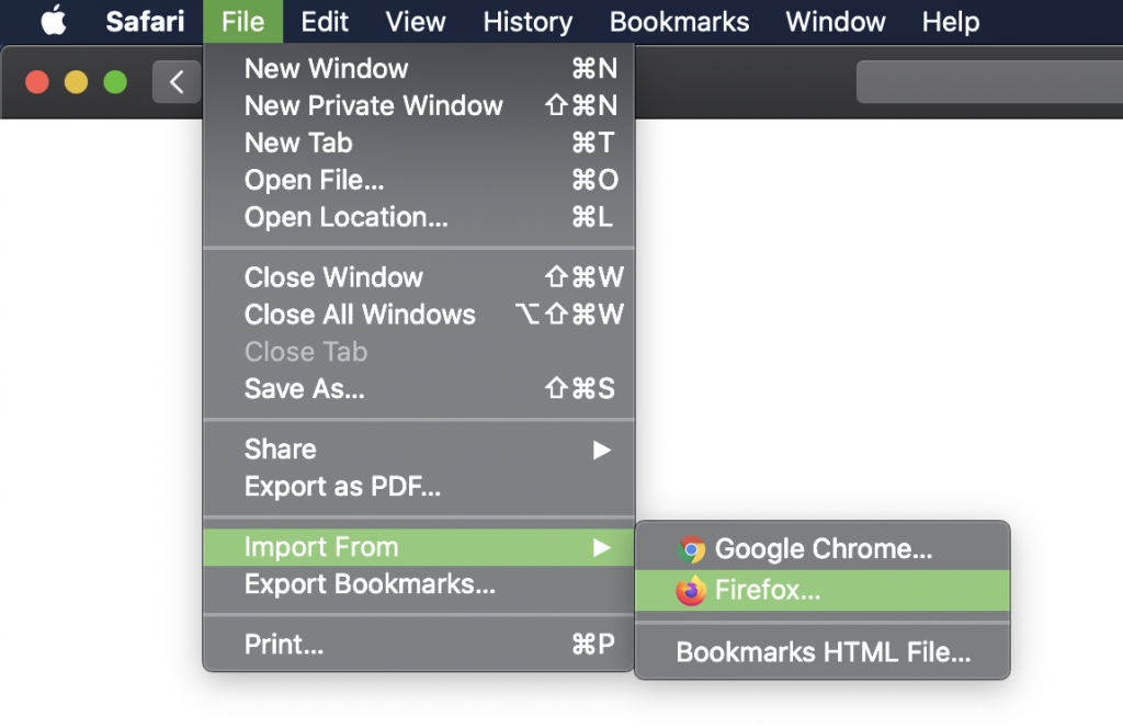 import passwords from chrome to safari